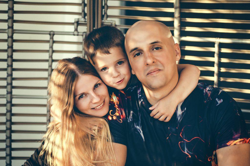 Катерина Козлова с семьей