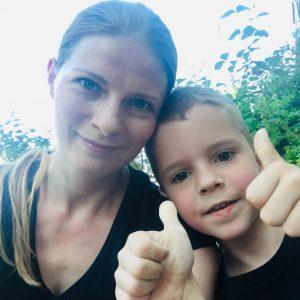 Катерина Козлова с сыном Богданом